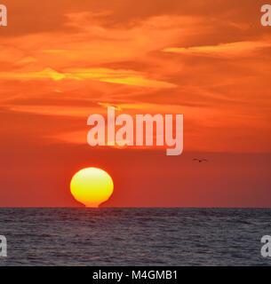 Beautiful sunset on the Gulf of Mexico, Florida - Stock Photo