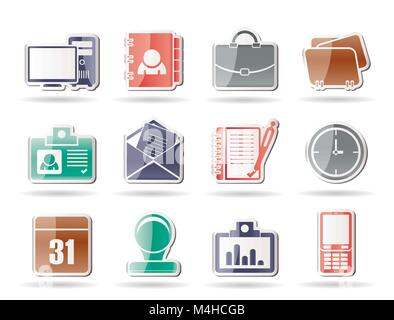 Web Applications,Business and Office icons, Universal icons - vector icon set - Stock Photo