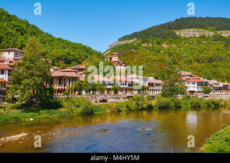 Houses on the Bank of River - Stock Photo