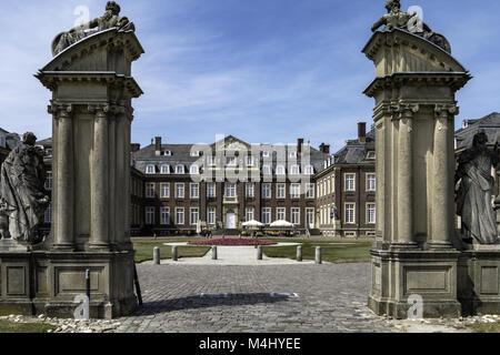 Moated castle. Nordkirchen, Münster region, North-Rhine-Westphalia, Germany - Stock Photo