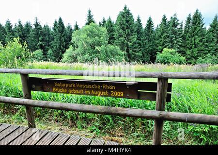 Nature Park Hessische-Rhön Germany - Stock Photo