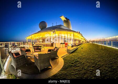night scenes on luxury cruise ship - Stock Photo