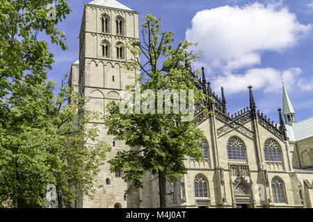 Saint Paulus cathedral, Münster, North Rhine-Westphalia, Germany - Stock Photo