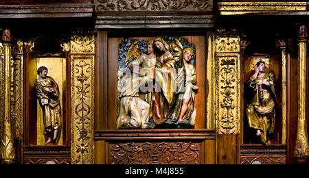 Retable ( Altarpiece) 1526-1532 Alonso Berruguete 1489-1561 master 16th century,  Spain, Spanish, ( Monastery of - Stock Photo