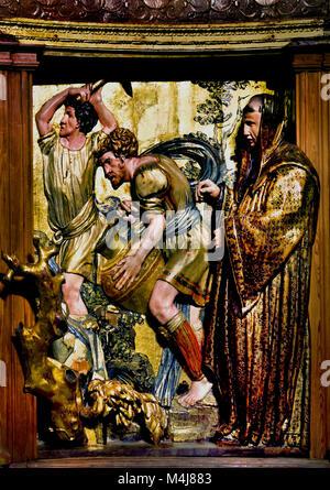 Retable ( Altarpiece) 1526-1532 Alonso Berruguete 1489-1561 master 16th century,  Spain, Spanish, ( Monastery of - Stock Photo