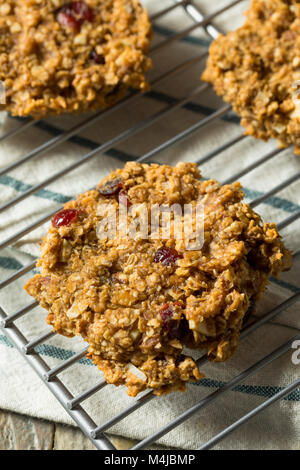 Vegan Healthy Breakfast Cookies with Oats Peanut Butter and Banana - Stock Photo