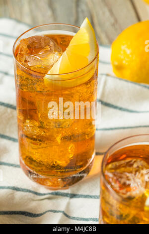 Refreshing Southern Sweet Iced Tea with Lemon - Stock Photo