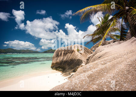 Anse Source D'Argent, La Digue, Seychelles - Stock Photo