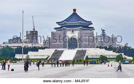 TAIPEI, TAIWAN - NOVEMBER 15, 2017: Chiang Kai-shek Memorial Hall on 15 November 2017 in Taipei, Taiwan. Landmark - Stock Photo