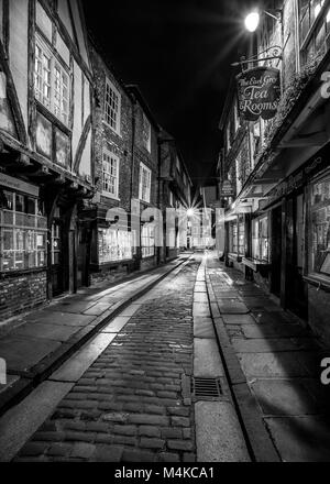 The Shambles in the ancient city of York, England - Stock Photo