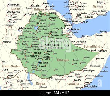 ethiopia road map Stock Vector Art Illustration Vector Image