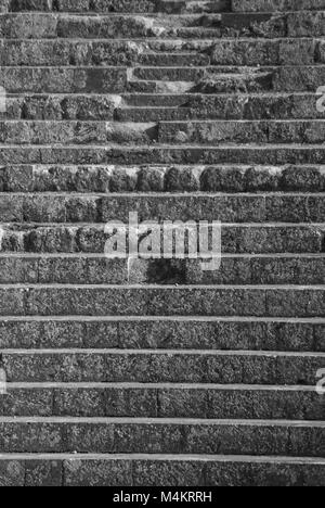 OSTIA ANTICA RUINS: AMPHITHEATER STEPS DETAILS - Stock Photo