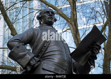 the 1988 bronze statue of the 18th century radical journalist and politician john wilkes by sculptor james butler, - Stock Photo