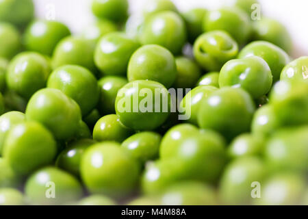 Freshly cooked garden peas close up - Stock Photo