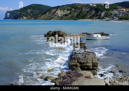 Agios stefanos spectacular sea view near the harbour - Stock Photo