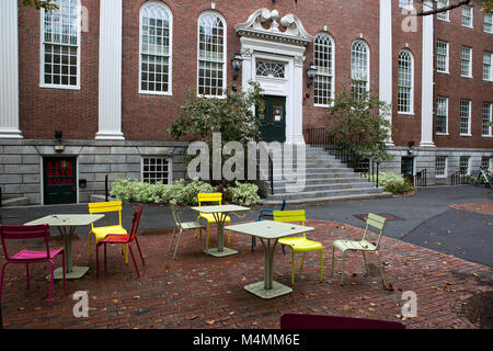 Park in one of the campuses in Cambridge city in Massachusetts - Stock Photo