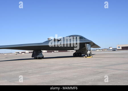 The Spirit of Missouri, the B-2 Flagship of the Missouri Air National Guard's 131st Bomb Wing, returns from a recent - Stock Photo