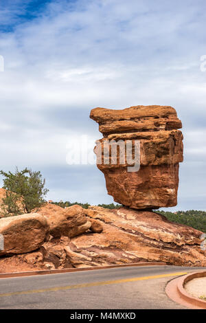 The Balanced Rock of the Garden of the Gods - Stock Photo