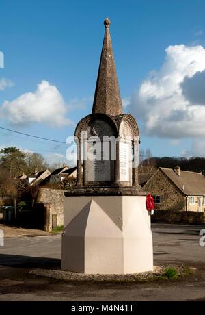 The war memorial, Ramsden, Oxfordshire, England, UK - Stock Photo