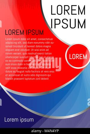 Red and blue background design a flyer brochure vertical vector - Stock Photo