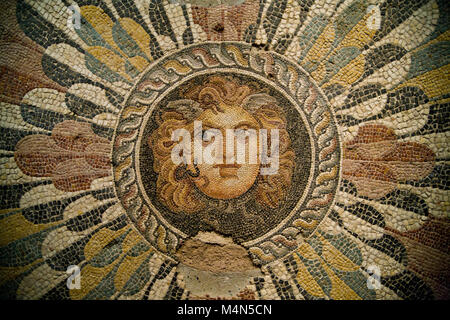 Mosaic inside the National museum of Alexandria, Egypt - Stock Photo