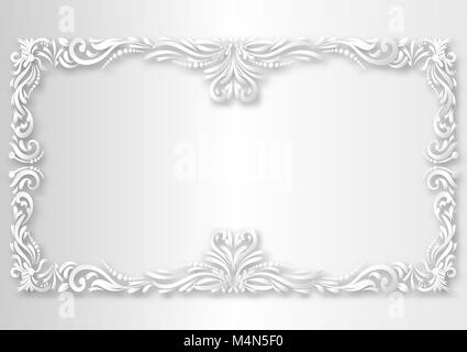 Paper art style of  Vector Vintage Decorations Elements. Flourishes Calligraphic Ornaments and Frames. retro Style - Stock Photo