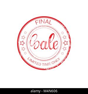 Final Sale Stamp Rubber Old Sticker Design Shopping Badge Icon Isolated