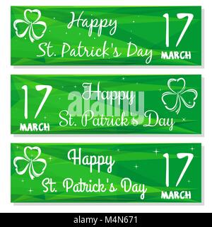 Gren banners set for St. Patricks Day - Stock Photo