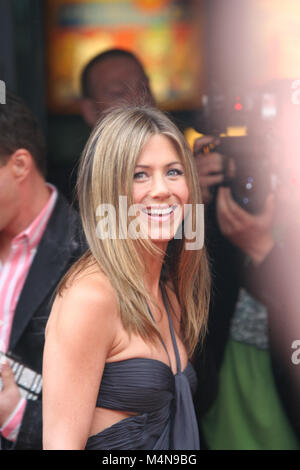 LONDON - JUNE 14, 2006:   Actor Jennifer Aniston arrives at the UK Premiere of 'The Break-Up' at Vue West End, Leicester - Stock Photo