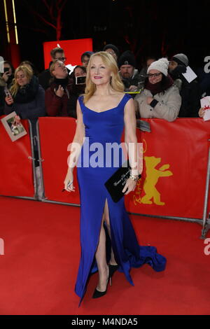 Berlin, Germany. 16th Feb, 2018. Patricia Clarkson (actress) at the premiere of 'The Bookshop' on Berlinale at 16th - Stock Photo