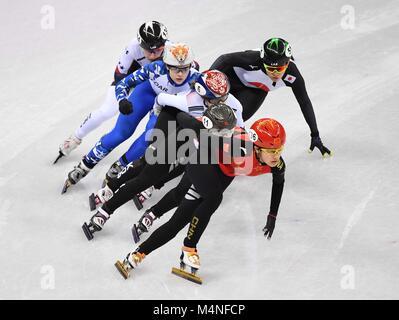 Pyeongchang, South Korea. 7th Feb, 2018. Jinyu Li (CHN). Short track. Gangneung ice arena. Pyeongchang2018 winter - Stock Photo