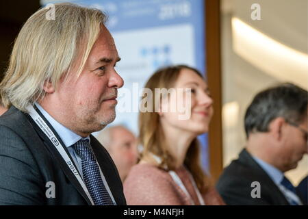 Munich, Germany. 15th Feb, 2018. MUNICH, GERMANY - FEBRUARY 15, 2018: Russia's Kaspersky Lab CEO and Chairman Eugene - Stock Photo