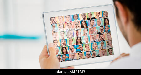 Composite image of people collage portrait very wide - Stock Photo