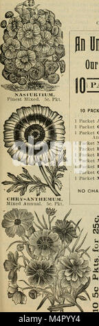 Annual catalogue - seeds, bulbs, plants, implements, etc (1895) (18424703125) - Stock Photo