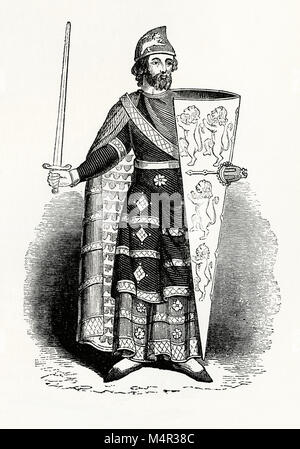 Geoffrey Plantagenet, Count of Anjou, Geoffrey V (1113–1151) was Duke of Normandy. By his marriage to the Empress - Stock Photo