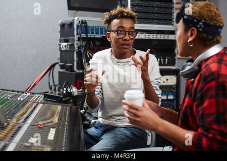 Discussion in studio - Stock Photo