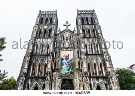 St. Joseph's Cathedral is a late 19th-century Gothic Revival (Neo-Gothic style ) church that serves as the cathedral - Stock Photo