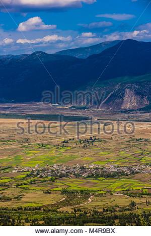 Villages near Lijiang, Yunnan Province, China. - Stock Photo