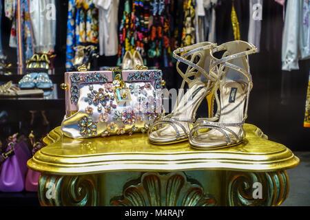 Dolce Gabbana store, Parizska street, Prague shopping, Czech Republic - Stock Photo
