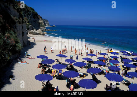 Tropea beach, Calabria, Italy - Stock Photo