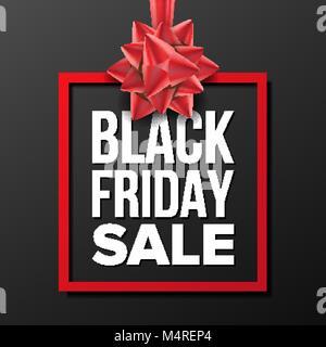 Black Friday Sale Banner Vector. Big Super Sale. Cartoon Business Brochure Illustration. Design For Black Friday - Stock Photo