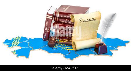 Constitution of Kazakhstan concept, 3D rendering - Stock Photo