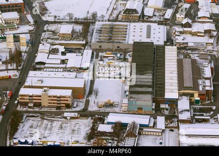Aerial view, Port of Dortmund with the Envio management PCB scandal, Dortmund, Ruhr, Nordrhein-Westfalen, Germany, - Stock Photo