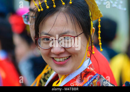 Glasgow, Scotland, UK. 18th February, 2018. Glasgow celebrates the Chinese New Year 2018. To mark the Year of the - Stock Photo