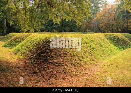 Reconstructed Earthen Fort at the Fort Raleigh National Historic Site on Roanoke Island, North Carolina - Stock Photo