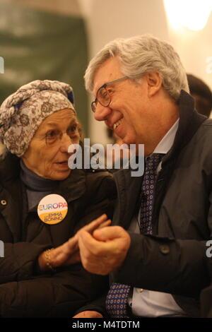 Naples, Italy. 17th Feb, 2018. Press conference by Emma Bonino and presentation of candidates Emma Bonino in Naples - Stock Photo