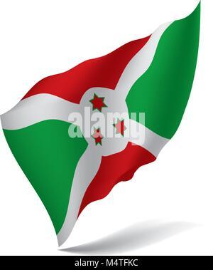 Burundi flag, vector illustration - Stock Photo