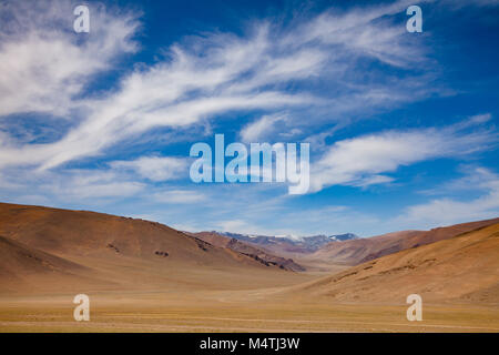 Uninhabited mountain valley in Western Mongolia Altay Mountains at summer - Stock Photo