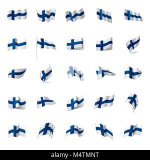 Finland flag, vector illustration - Stock Photo