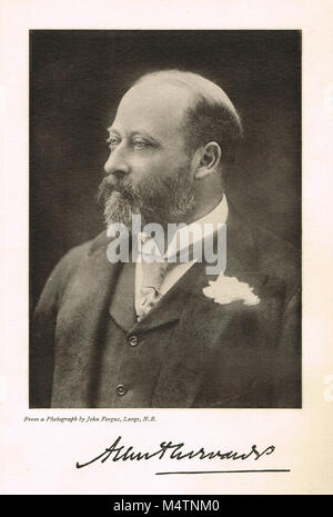 Edward VII, 1841–1910, reigned 1901-1910, King of the United Kingdom and the British Dominions, and Emperor of India - Stock Photo